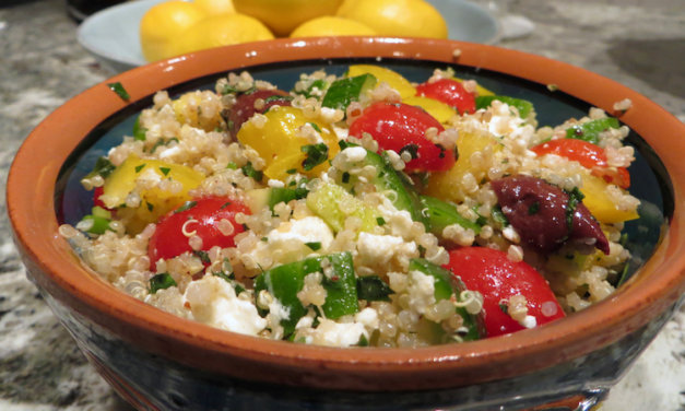 Greek Quinoa Salad with Veggies, Feta and Herbs