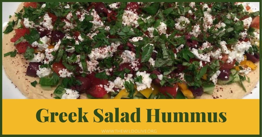Greek Salad Hummus - - part of a summer recipe roundup