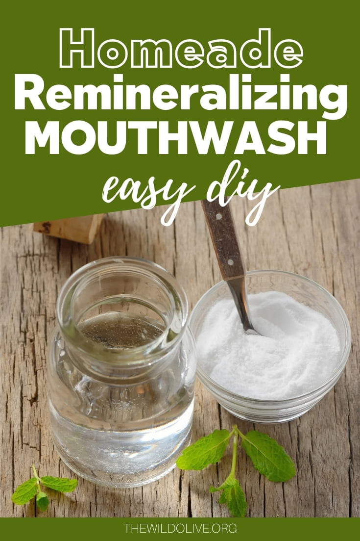 Pinnable Image for Homemade Remineralizing Mouthwash Recipe